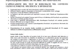 programma seminario rorschach clninico e forense